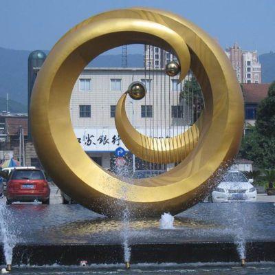 不锈钢乐器喷泉