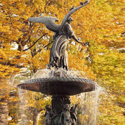 欧式铜雕喷泉