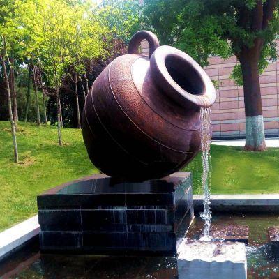 喷泉铸铜雕塑