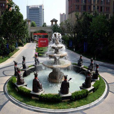 铜雕12生肖喷泉