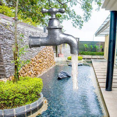 玻璃钢水龙头喷泉
