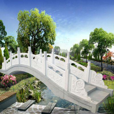 汉白玉石雕小桥