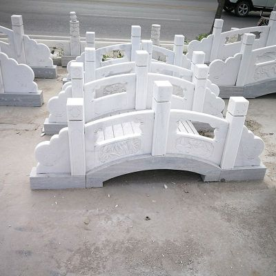 庭院汉白玉石雕小桥
