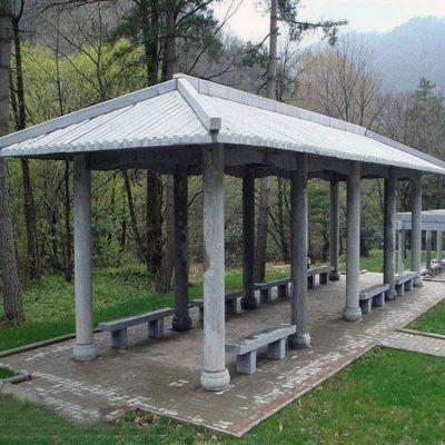 公园石雕长廊