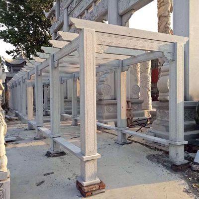 中式石雕花架