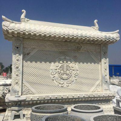 中式庭院影壁石雕