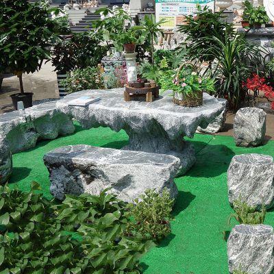 庭院异形石雕桌凳