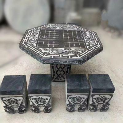 公园象棋石雕桌凳