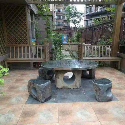 别墅石雕桌凳