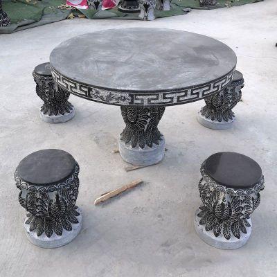 青石石雕桌凳