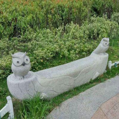 公园创意石雕长凳椅子