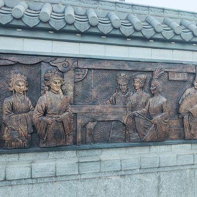 古文化铜雕浮雕墙