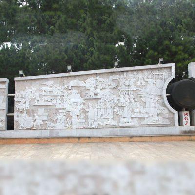 汉白玉石材浮雕壁画