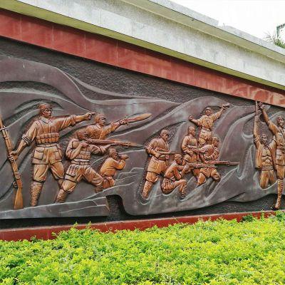 玻璃钢解放军浮雕壁画