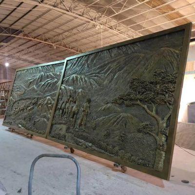 玻璃钢仿铜浮雕壁画