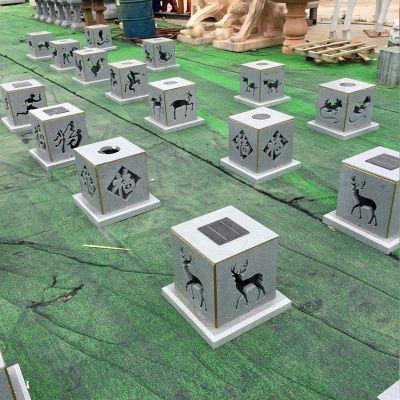 中式镂空现代石雕灯