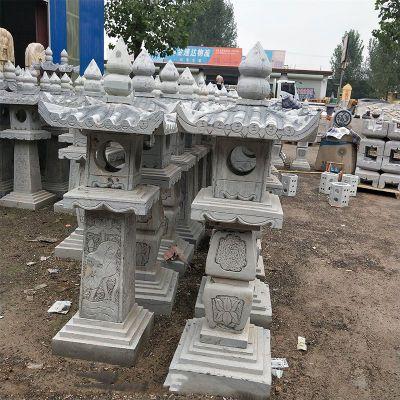 中式寺院石雕灯
