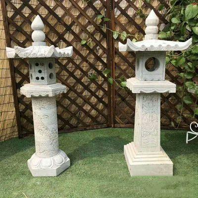 中式寺庙石雕灯