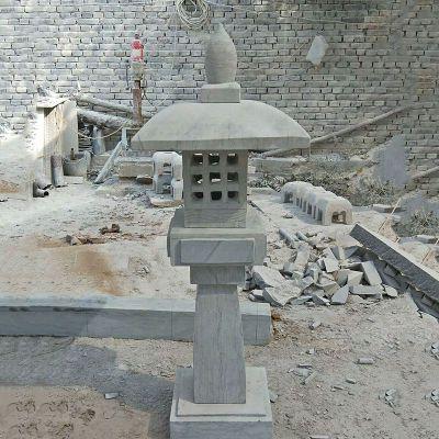 日式高墩石雕灯