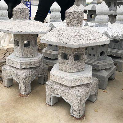 日式复古石雕灯