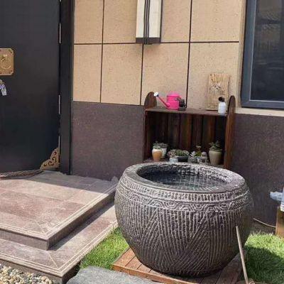 庭院仿古花钵鱼缸