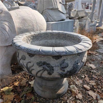 石雕花盆鱼缸