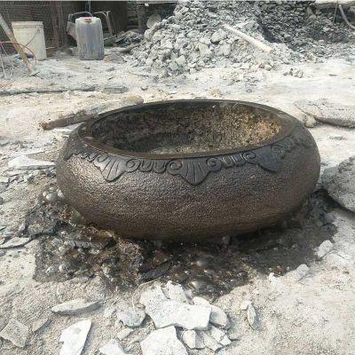 仿古做旧圆形石缸