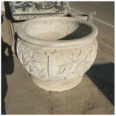 汉白玉仿古石雕缸