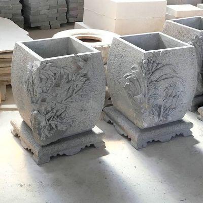 庭院雕花现代石雕花缸