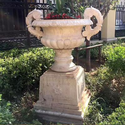 欧式石雕花盆