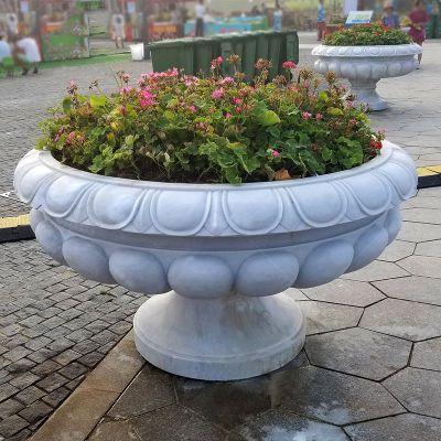 汉白玉欧式石雕花盆