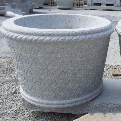 现代石雕花盆雕塑