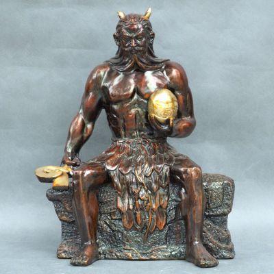 纯铜伏羲神像