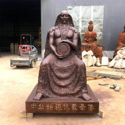 中华始祖伏羲圣像铜雕