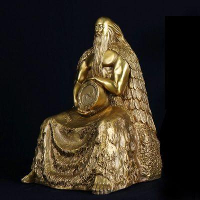 人王伏羲铜雕像