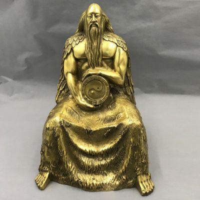伏羲铜雕塑
