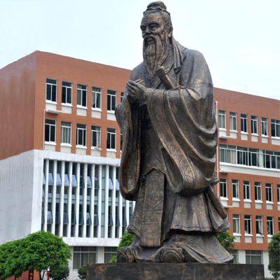 校园孔子铜雕像