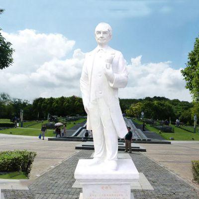 汉白玉爱迪生雕塑