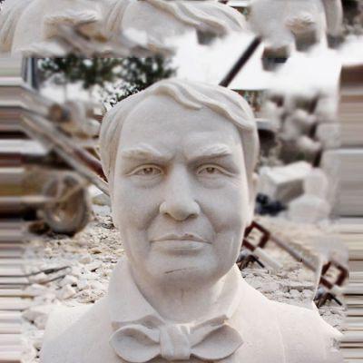 石雕爱迪生头像雕塑