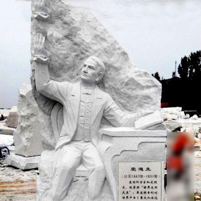 大理石石刻爱迪生浮雕雕塑