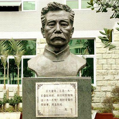 校园名人鲁迅半身像铜雕