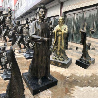 鲁迅立像校园名人仿铜雕像