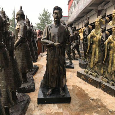 当代大文豪鲁迅先生仿铜雕塑