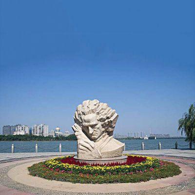 贝多芬石雕景观雕像