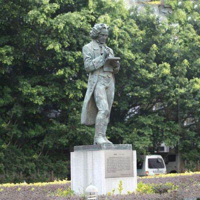 校园名人贝多芬铜雕塑像