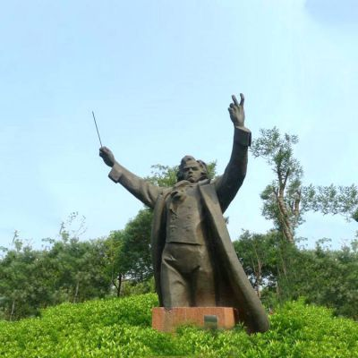 世界名人贝多芬铜雕像