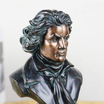 彩绘铜雕贝多芬雕塑