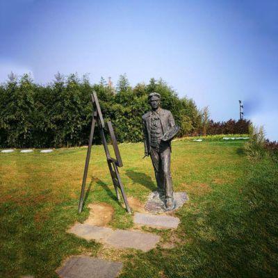 公园画家徐悲鸿先生铜雕像