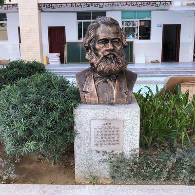 马克思铸铜头像校园名人雕塑
