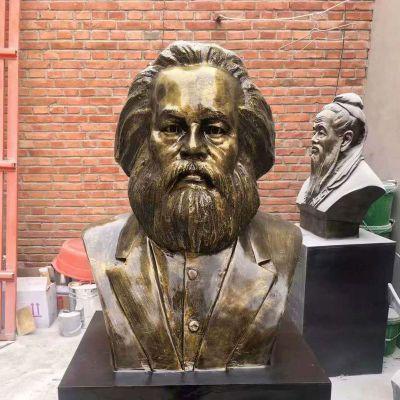 马克思玻璃钢头像校园名人雕塑
